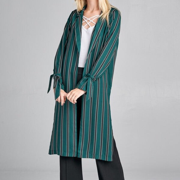 stripe lightweight jacket