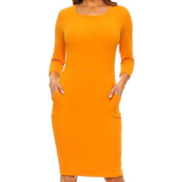 Kangaroo Pocket Midi Dress