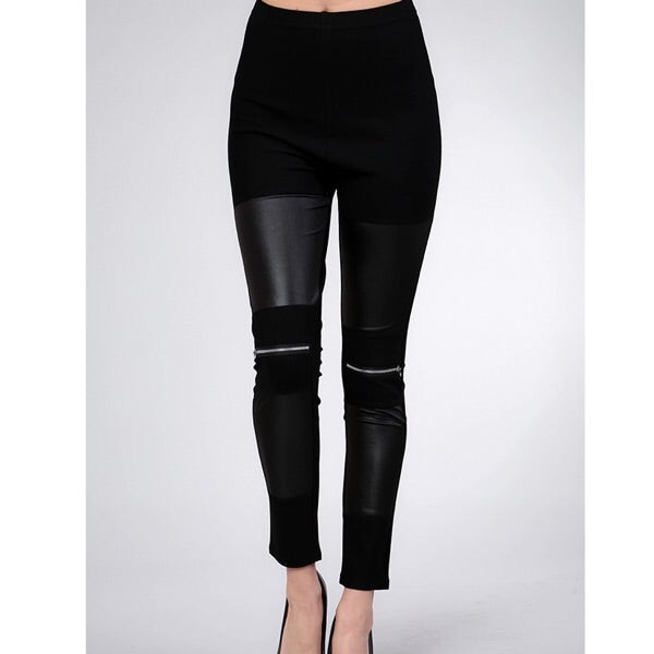 Zipper Knee Leggings