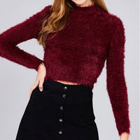 Long Sleeve Fuzzy Top