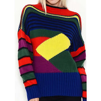 Multi-Color Striped Sweater