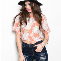 Flower Crop Top - ShopFAH Boutique