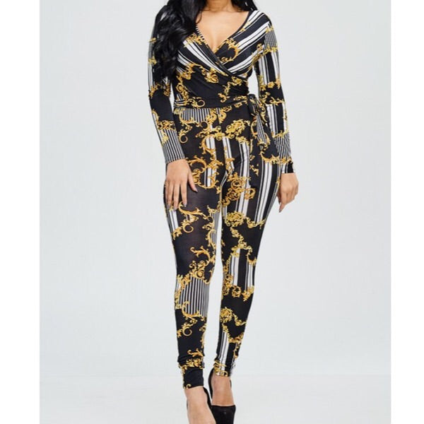 Medallion Chain Jumpsuit