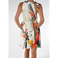 Pleated Chiffon Dress-Print - ShopFAH Boutique