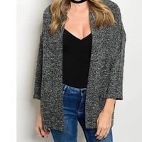 Boucle Coat in charcoal