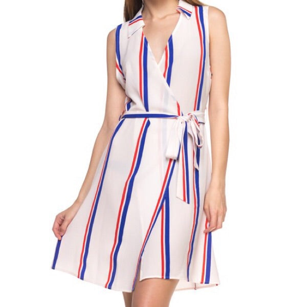 Crepe Stripe Dress