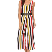 Stripe Culotte Jumpsuit - ShopFAH Boutique