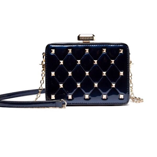 Patent Studded Crossbody