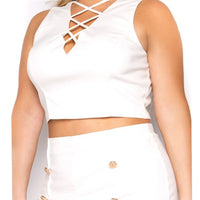 plus size short set