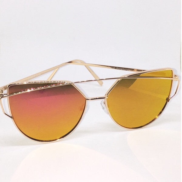 Cross Brow Cat-Eye Sunglasses - ShopFAH Boutique