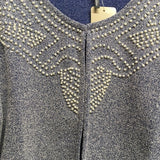 Pearl Detail Cropped Cardigan