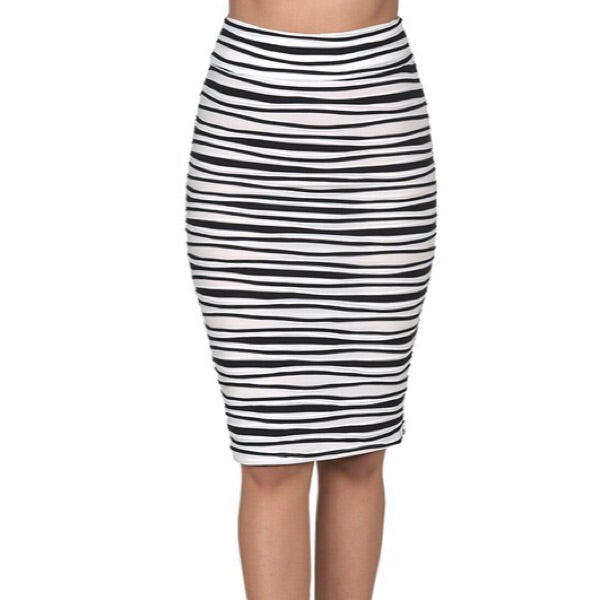 Stripe Bodycon Skirt