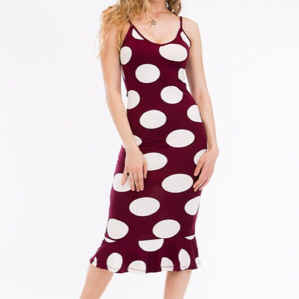 Polka Dot Ruffled Dress