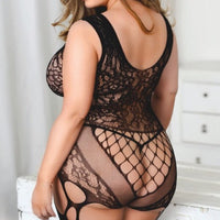 Plus Size Lace Body Stocking