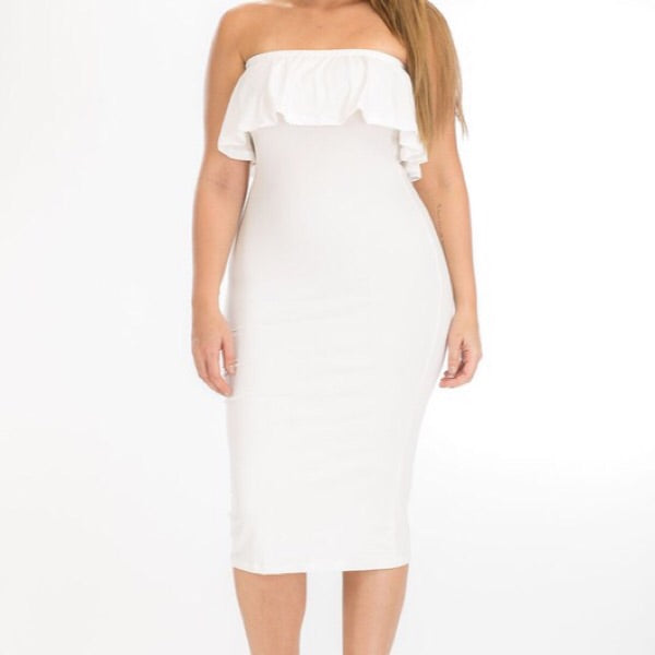 Ruffle Plus Size bodycon
