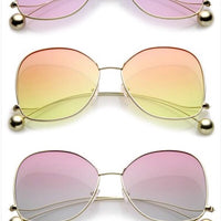 oversized colorful gradient sunglasses