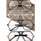 Hexagon Clear Sunglasses