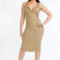 plus size stripe bodycon