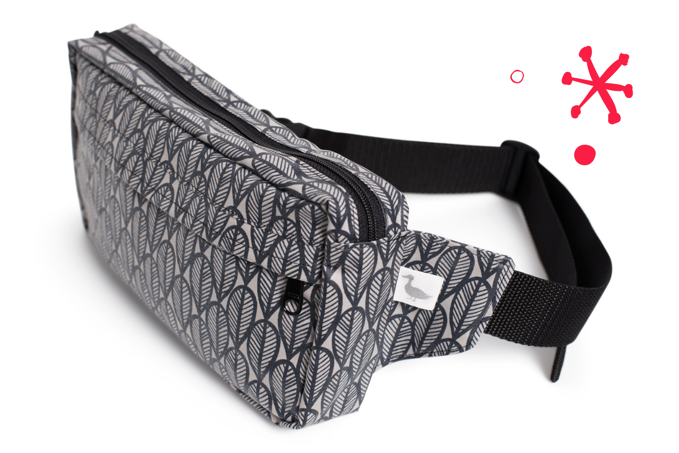 Water Resistant Zippered Fanny Pack
