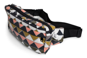 Hip Pouch - Fanny Pack - Hipster in Pink, Light Grey/Dark Grey, Light/Dark Green, White Triangle Fabric