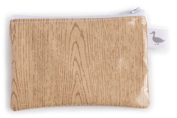 Coin Purse - Light Wood Grain Fabric