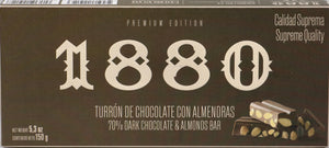 1880 Premium Dark Chocolate Almond Turrón
