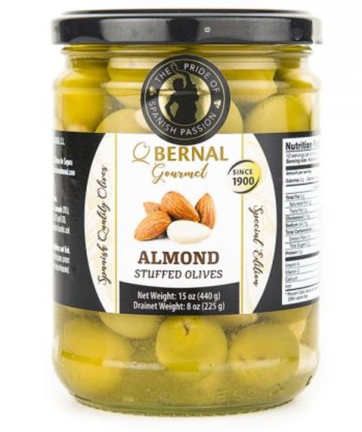 Bernal Gourmet Almond stuffed olives 440g
