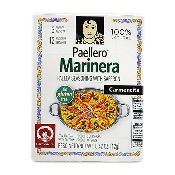 CARMENCITA Marinera Paella Seasoning With Saffron (3 packets)