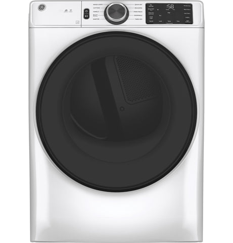 GE - 7.8 cu. ft. Capacity Dryer with Built-in WiFi - White