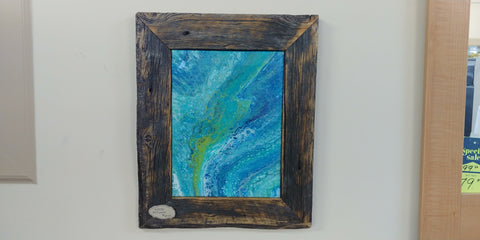 Bubbles in the Ocean - Rustic Reclaimed Wood Frame