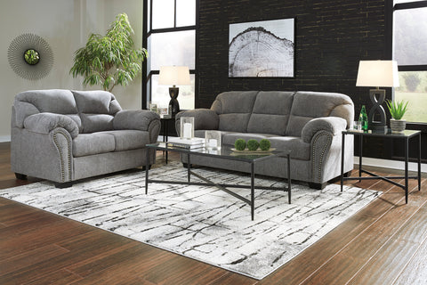 Allmaxx - Pewter - Sofa/Loveseat