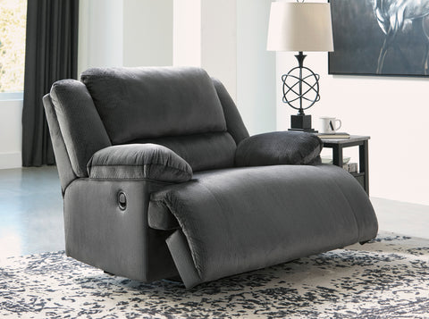 Clonmel - Charcoal - Zero Wall Wide Seat Recliner