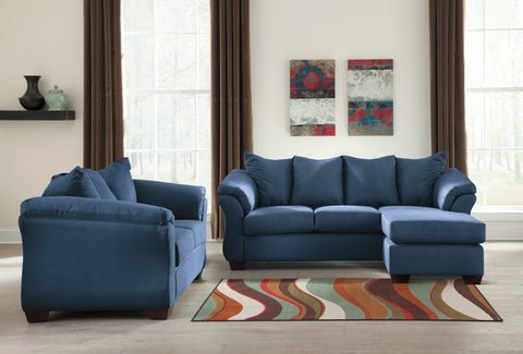 Darcy - Blue - Sofa Chaise/Loveseat