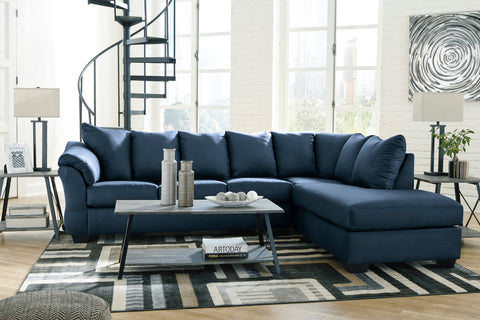 Darcy - Blue - Sectional