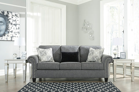 Agleno - Charcoal - Sofa/Chair/Ottoman