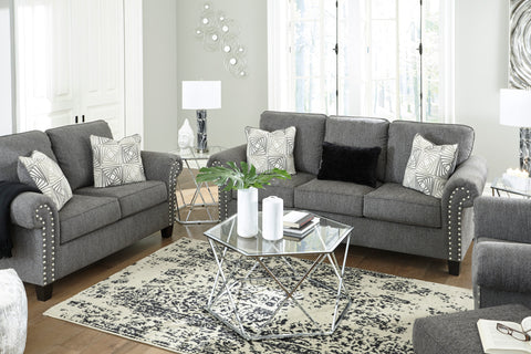 Agleno - Charcoal - Sofa/Loveseat