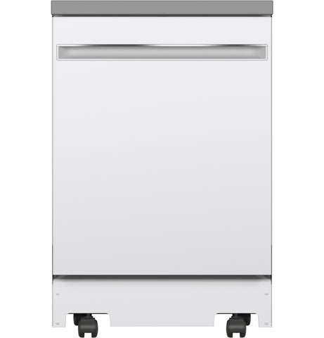 GE Portable Dishwasher in White with 12 Place Settings Capacity, 54 dBA - White