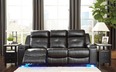 Kempton - Black - Reclining Sofa/Chair