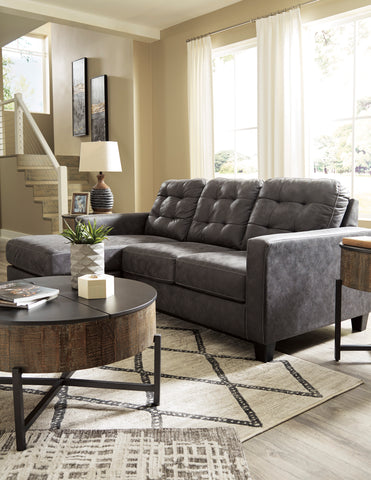 Venaldi - Gunmetal - Sofa Chaise/Chair