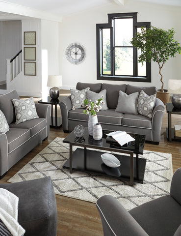 Domani - Charcoal - Sofa/Loveseat