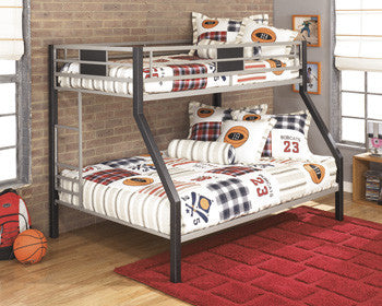 Dinsmore - Black/Gray - Twin/Full Bunk Bed w/Ladder