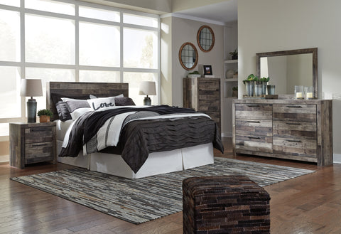 Derekson - Multi Gray - Bedroom Suite