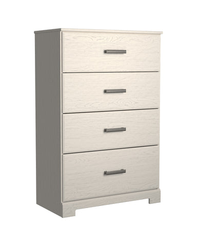 Stelsie - White - Four Drawer Chest