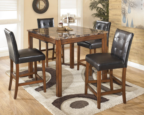 Theo - Warm Brown - Square Counter Table Set
