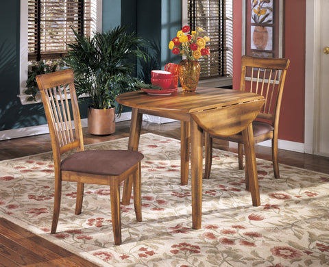 Berringer - Rustic Brown - Drop Leaf Table/2 Chairs