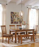 Berringer - Rustic Brown - Table/4 Chairs/Bench