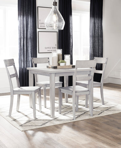 Loratti - Grey - Table/4 Chairs