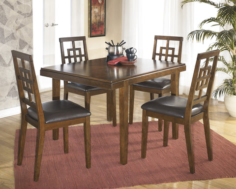 Cimeran - Medium Brown - Table/4 Chairs