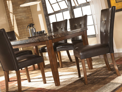 Lacey - Medium Brown - Table/6 Chairs