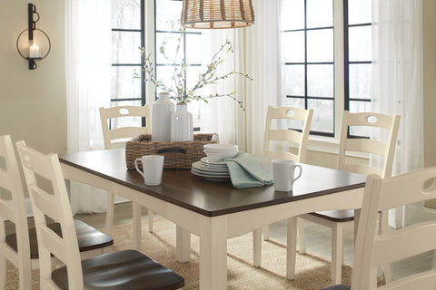 Woodanville - Cream/Brown - Table/6 Chairs